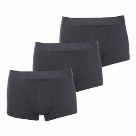 Lot de 3 boxers ouverts HO1 Hom en coton stretch noir