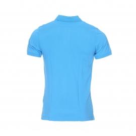 Polo Hilfiger Denim en piqué de coton bleu azur