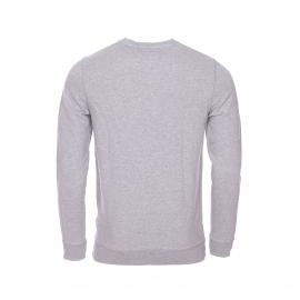 Sweat Hilfiger Denim en coton gris clair chiné floqué en bleu marine et blanc