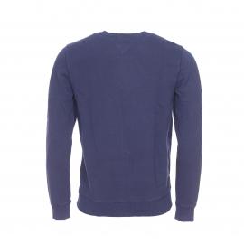 Sweat Hilfiger Denim en coton bleu marine floqué en framboise et blanc