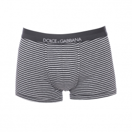 Boxer Dolce&Gabbana en coton stretch à rayures grises et noires