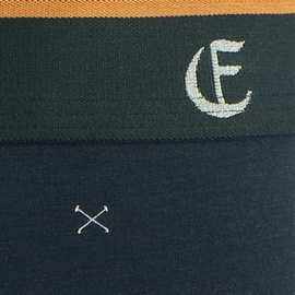 Slip taille basse Eminence en jersey micromodal bleu marine à motifs croix blanches