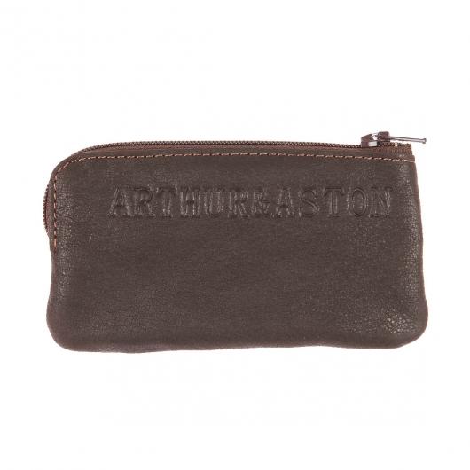 Porte monnaie arthur aston en cuir huil marron rue des hommes - Porte monnaie arthur et aston ...