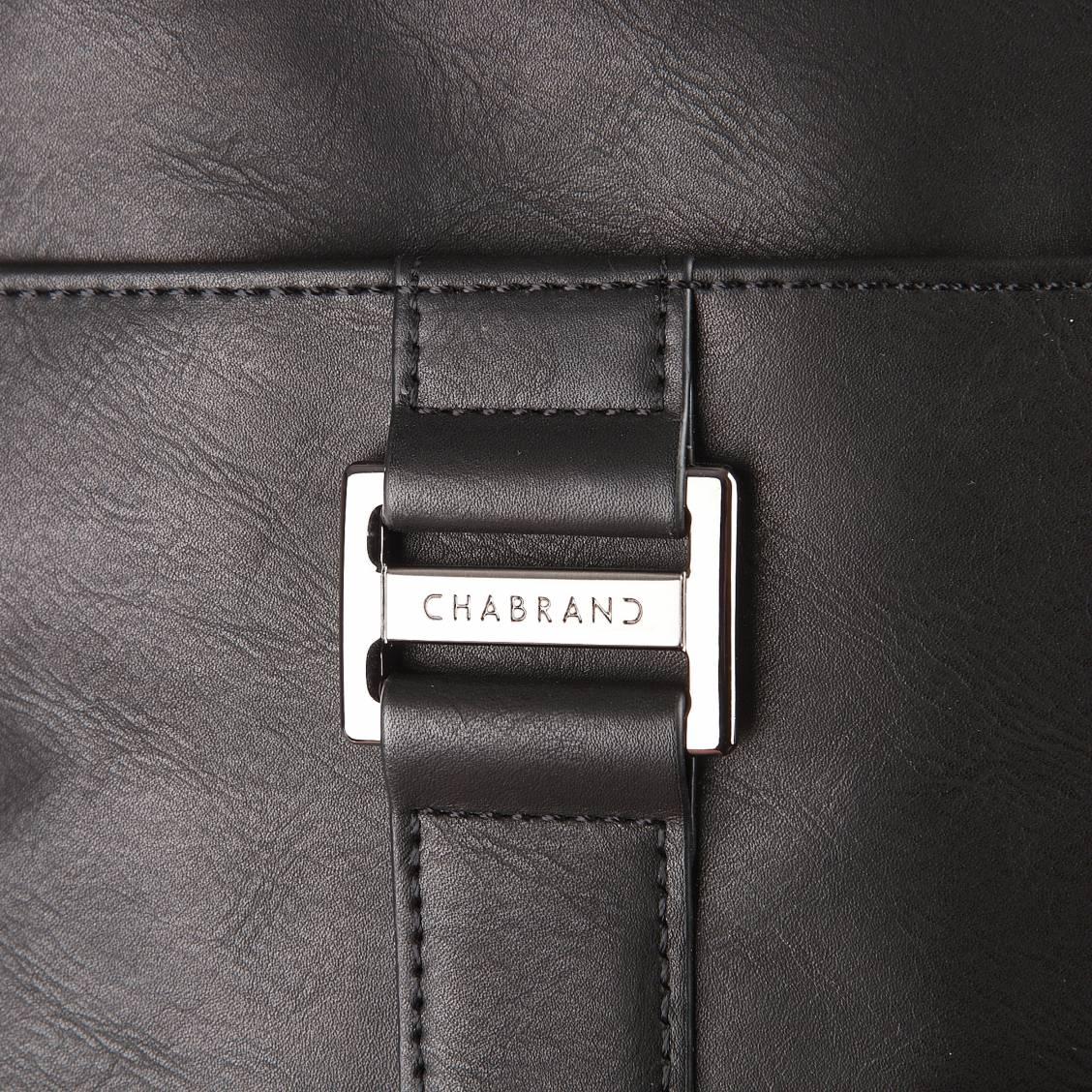 sacoche zipp e lima chabrand en simili cuir noir rue des hommes. Black Bedroom Furniture Sets. Home Design Ideas