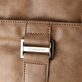 Porte-documents Lima Chabrand en simili-cuir marron