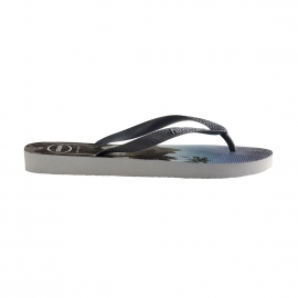 Tongs Havaianas Hype grises à imprimé photo
