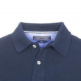 Polo cintré Tommy Hilfiger en piqué de coton bleu nuit