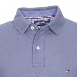 Polo cintré Tommy Hilfiger en piqué de coton premium bleu lavande