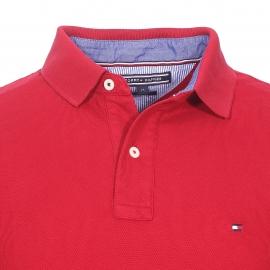 Polo cintré Tommy Hilfiger en piqué de coton premium rouge
