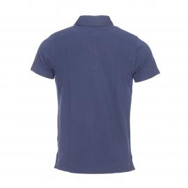 Polo cintré Tommy Hilfiger en coton piquée bleu marine à rayures bleu roi, blanches et prune