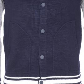 Gilet coupe teddy Tommy Hilfiger en coton bleu marine à manches grises