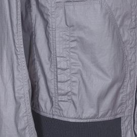 Blouson zippé Petrol Industries en toile enduite grise