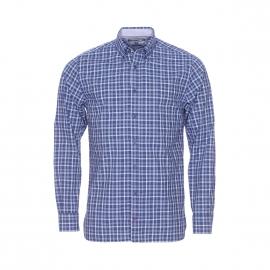 Chemise ajustée Tommy Hilfiger bleu marine à carreaux bleu indigo et blancs
