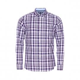 Chemise ajustée Tommy Hilfiger Audley blanche à carreaux violets