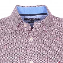Chemise cintrée Tommy Hilfiger bleu marine à motifs blancs et rouges
