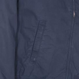 Blouson zippé TBS Lukblo en coton bleu marine