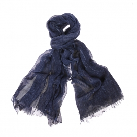 Chèche Harris Wilson Igane en modal bleu marine chiné