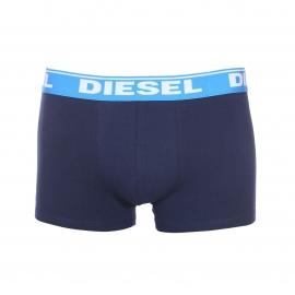 Lot de 3 boxers Diesel en coton stretch bleu marine, turquoise et bleu cyan