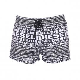 Short de bain Diesel noir monogrammé Diesel en blanc