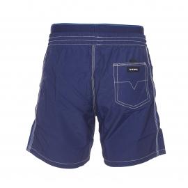 Short de bain Diesel bleu marine à ceinture doublée d'une fausse ceinture de boxer