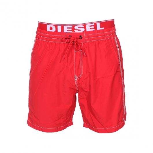 short de bain diesel rouge ceinture doubl e d 39 une fausse ceinture de boxer rue des hommes. Black Bedroom Furniture Sets. Home Design Ideas