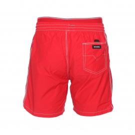 Short de bain Diesel rouge à ceinture doublée d'une fausse ceinture de boxer