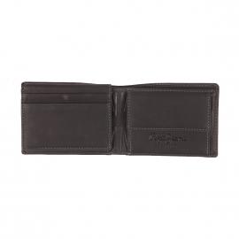 Petit portefeuille Pepe Jeans à 3 volets en cuir noir