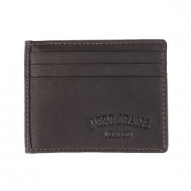 Porte-cartes Pepe Jeans en cuir noir à 2 volets