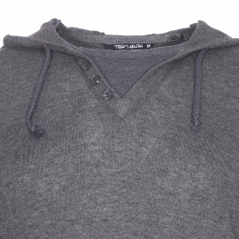 Pull à capuche Primo Teddy Smith anthracite chiné