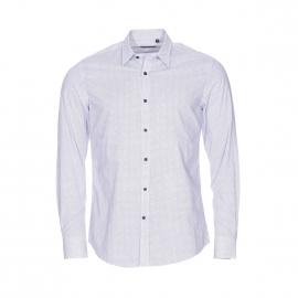 Chemise cintrée Antony Morato en coton blanc à petits motifs noirs