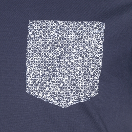 Tee-shirt col rond Antony Morato bleu marine à poche imprimée