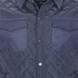 Veste matelassée Teddy Smith Bowork bleu marine à col et empiècements en jean