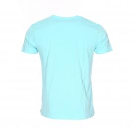 Tee-shirt col rond Kaporal turquoise floqué Kaporal Jeans en bleu jean