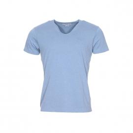 Tee-shirt col rond évasé Kaporal bleu jean
