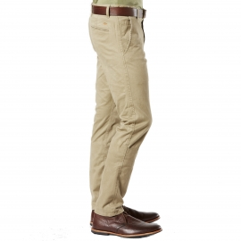 Pantalon Alpha Stretch Khaki Original Skinny Tapered Dockers en sergé de coton beige