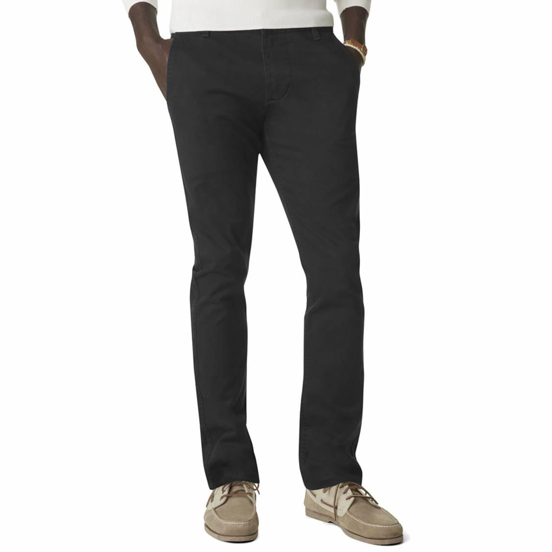 Pantalon alpha stretch khaki original skinny tapered  en sergé de coton noir