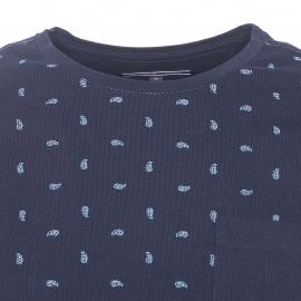 Tee-shirt col rond Tommy Hilfiger en coton bleu nuit à motifs cachemire