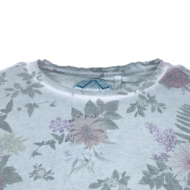 Tee-shirt col rond Tublys Teddy Smith en coton mélangé vert patiné à fleurs
