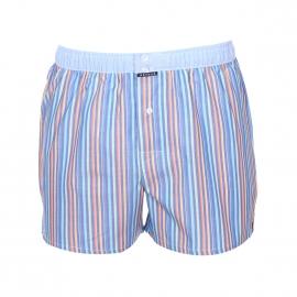 Caleçon club Arthur bleu jean à rayures et ceinture bleu clair