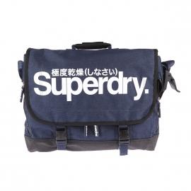 Besace Supergrit Tarp Superdry bleu jean à fermeture cartable