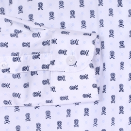 Chemise cintrée Kaporal en coton mélangé blanc à imprimé