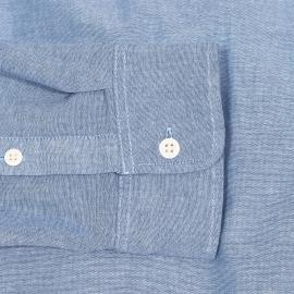 Chemise droite Hilfiger Denim en chambray bleu