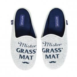 Mules Arthur Mister Grass Mat gris chiné