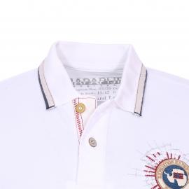 Polo Gandy Napapijri en coton maille piquée blanc brodé