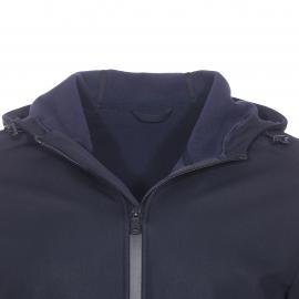 Veste déperlante à capuche Addison Napapijri bleu marine, intérieur en polaire