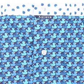Caleçon coupe française Arthur turquoise à imprimés bouées canard