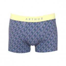 Boxer Arthur bleu marine à imprimé cactus