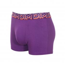 Lot de 3 boxers Dim Powerful en coton stretch violet, orange et gris souris