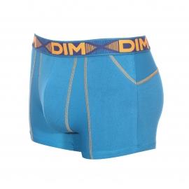 Lot de 2 boxers Dim 3D Flex Air en coton stretch : 1 modèle bleu nuit et 1 modèle bleu turquoise