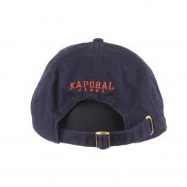 Casquette Kaporal bleu marine brodée du logo en orange